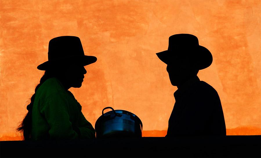 Silhouettes of Peru's living culture. Photo by Fidel Carrillo/La Ceguera