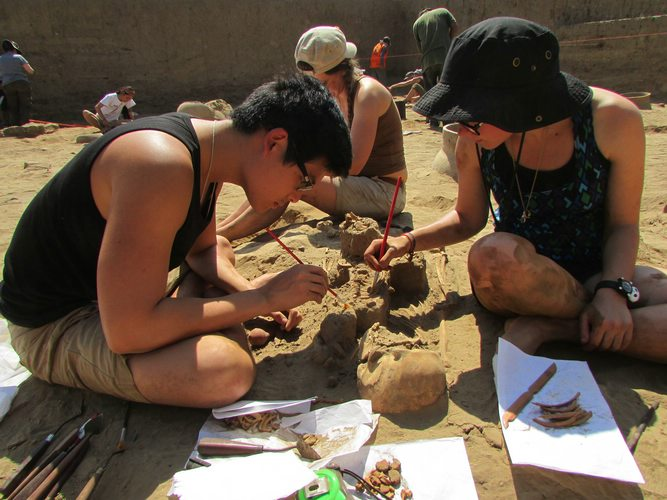 Moche excavation site, Peru, Archaeology, Peru For Less