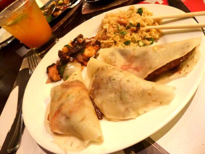 A plate of chifa, a Peruvian-Chinese fusion cuisine.