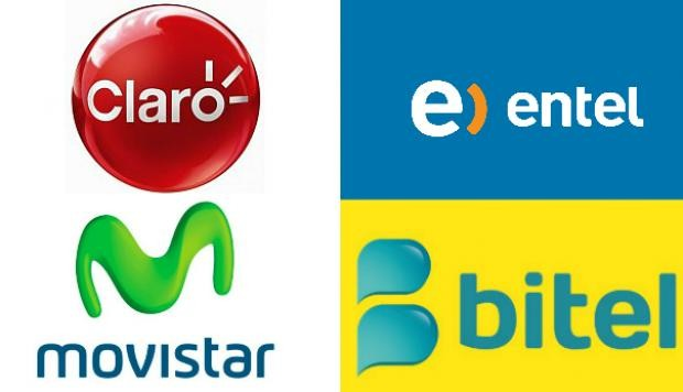 Some of the top cell service providers in Peru.