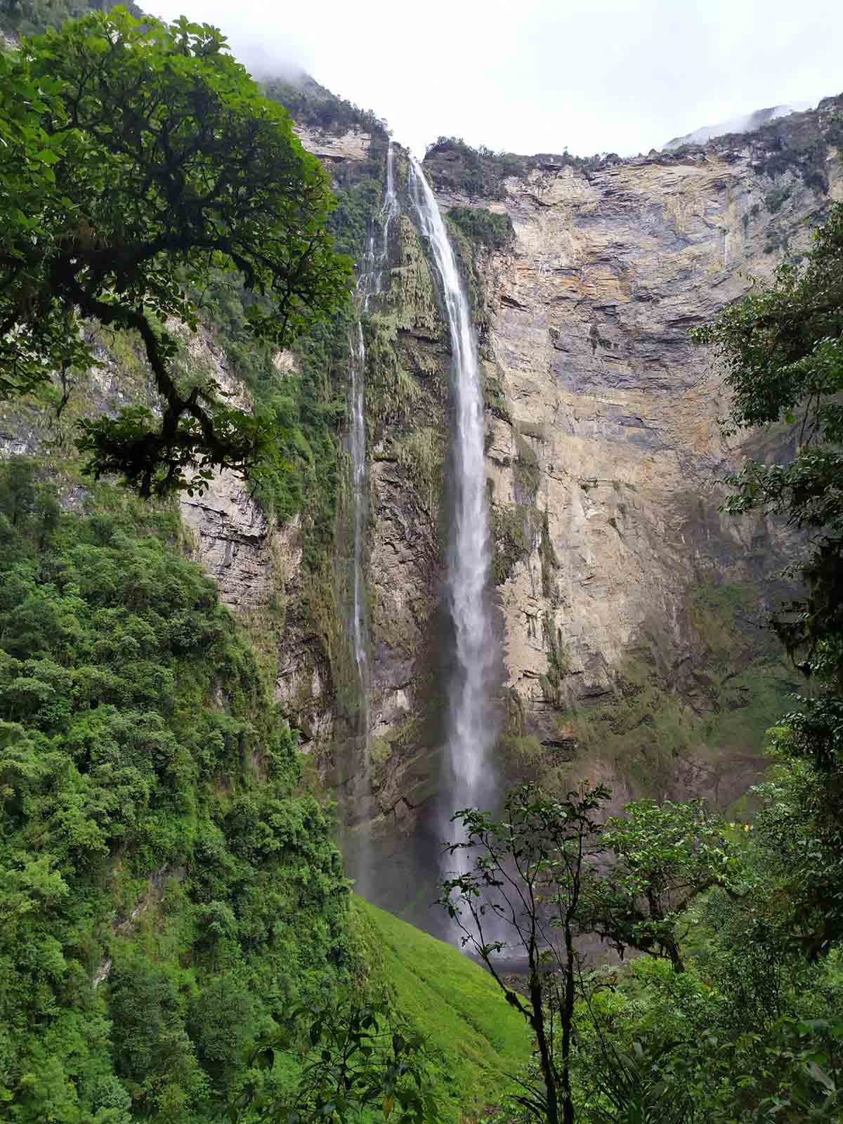 The Gocta Waterfall is a tall fall in the confluence of the Andes and Amazon.