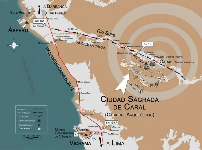 Caral Map
