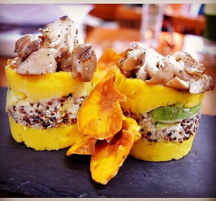 restaurant vegetarian dish