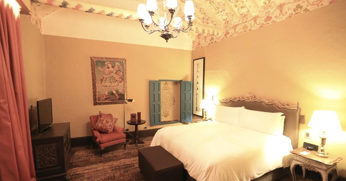 A deluxe colonial room at the Palacio del Inka Hotel in Cusco.