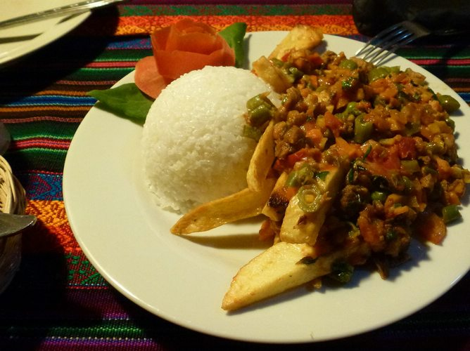sample some delicious vegetarian in Lima, Peru