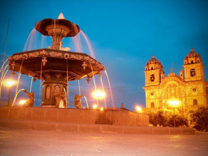 the Plaza de Armas in Cusco, Peru