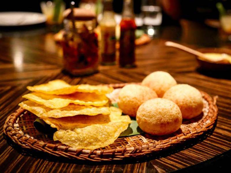 An appetizer at Amaz, a restaurant serving Amazonian cuisine.