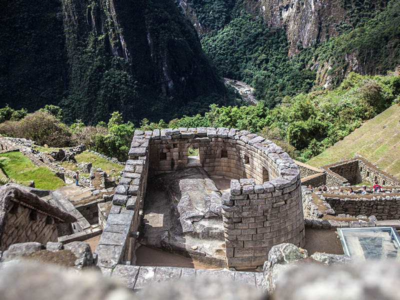 The Temple of the Sun at Machu Picchu is believed to have been used in Inca astronomy