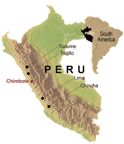 Map Peru Chincha