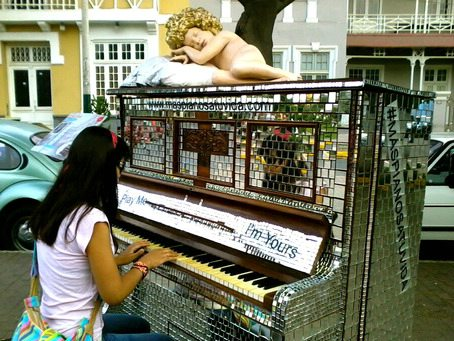 Play Me, I'm Yours piano in the Barranco district of Lima
