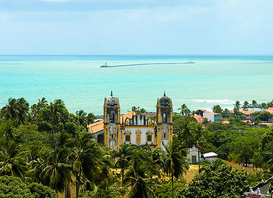 View of the Atlantic Ocean in Recife, Brazil
