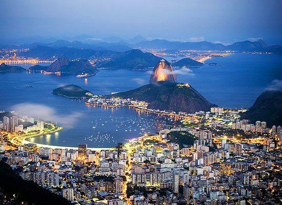 An arial view of Rio de Janeiro, Brazil