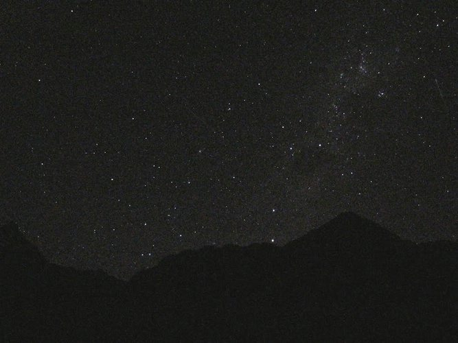 Southern Night Sky along the Inca Trail.