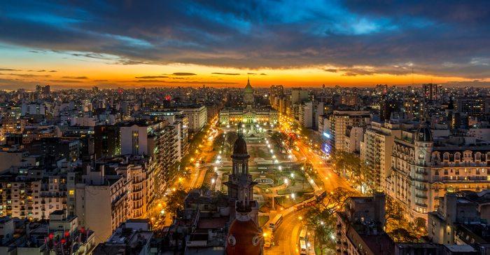 View from Palacio Barolo Buenos Aires Argentina