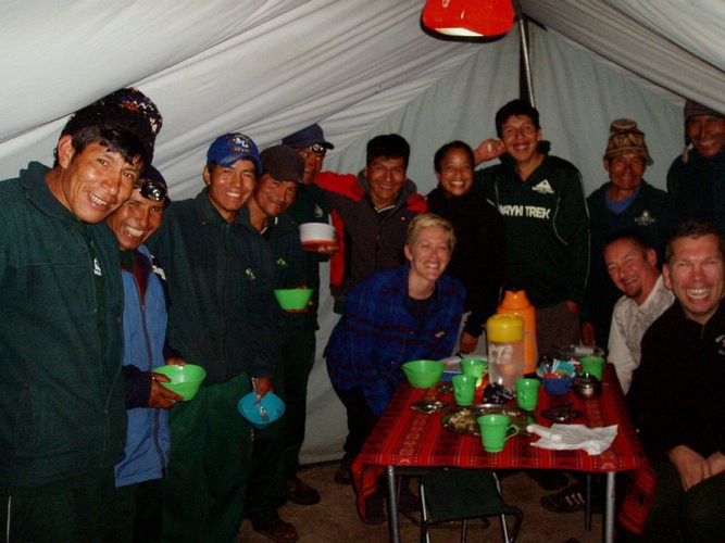 a night of the Inca Trail to Machu Picchu