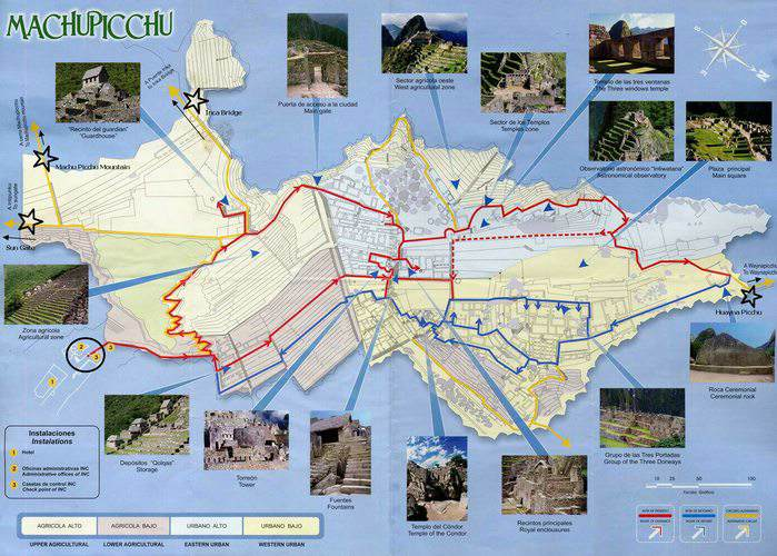 map of Machu Picchu