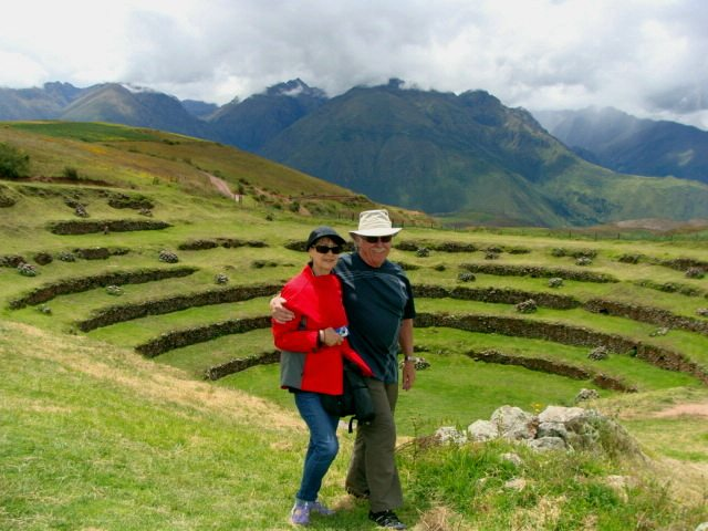 visiting Moray in the Sacred Valley in Peru