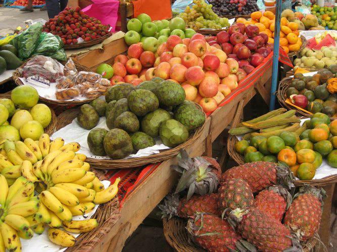 Diverse Peruvian Fruit