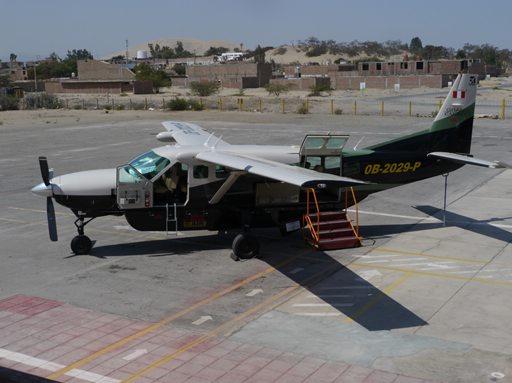 Flying in Peru