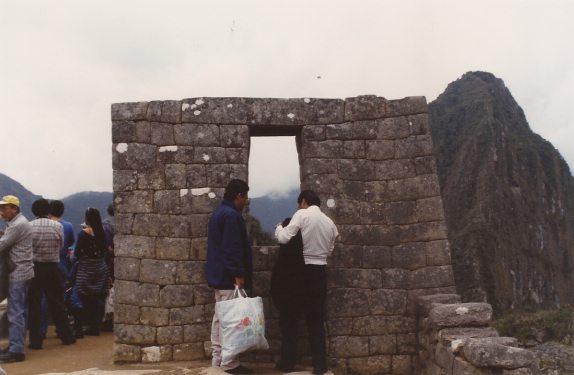 Machu Picchu circa 1980s in Peru