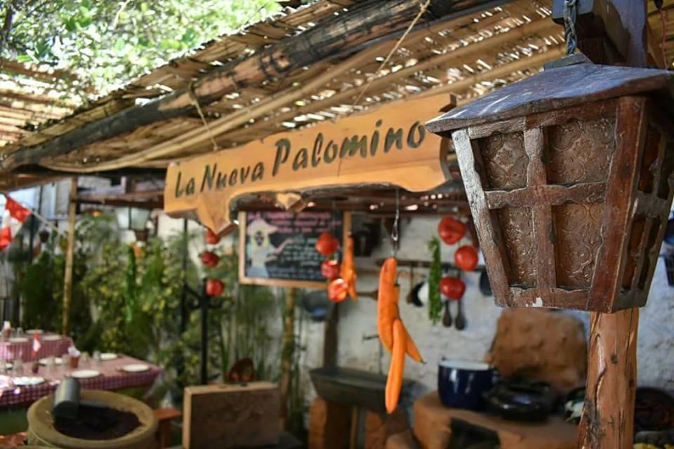 Photo of the interior sign of La Nueva Palomino restaurant