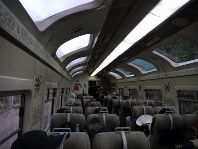 On-board the train
