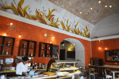 Interior of Capriccio Cafe, Arequipa