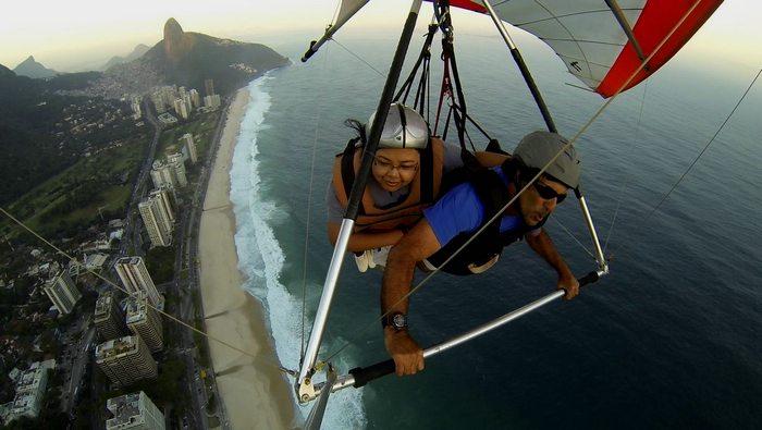 hang gliding in Brazil