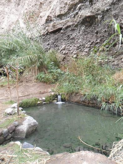Thermal hotsprings at Cotahuasi Canyon in Peru