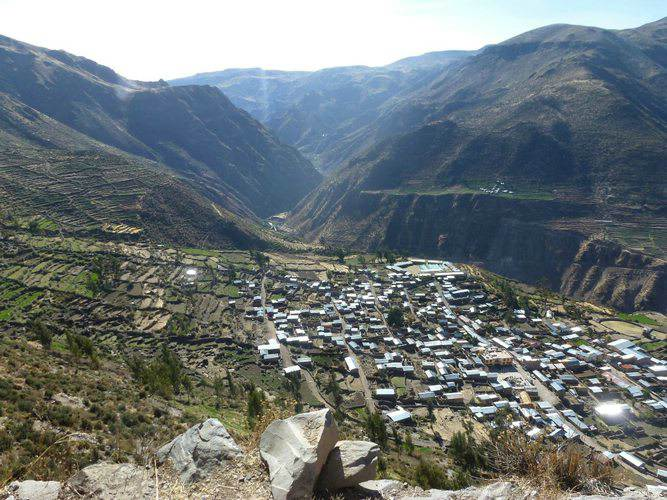 The small town of Puyca in the Cotahuasi Canyon in Peru