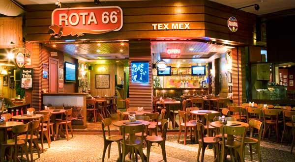 Inside Rota 66 Tex-Mex cantina in Rio de Janeiro