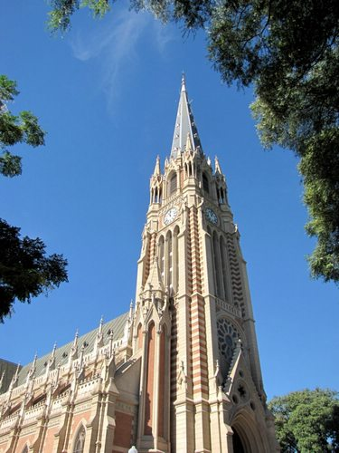 The steeple of San Isidro Cathedral in Buenos Aires, Argentina