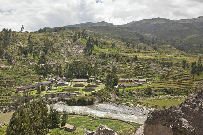 aerial view of Colca Lodge
