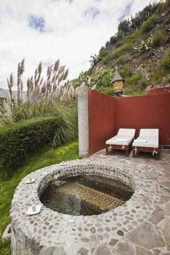 private nature spring bath in Colca Lodge