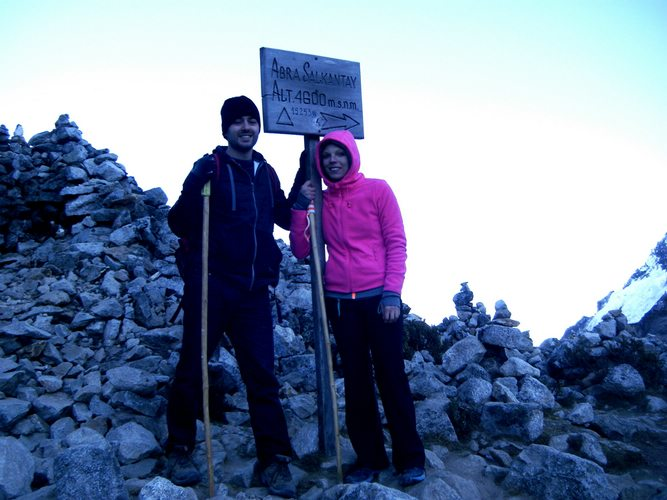 highest point of the Salkantay Pass