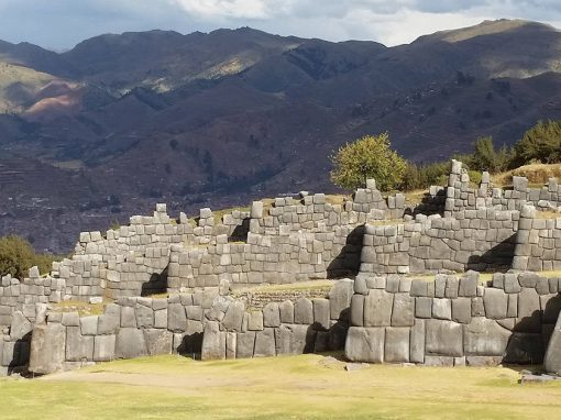 The fortress of Sacsayhuamán, an important Inca ruin located above the city of Cusco.
