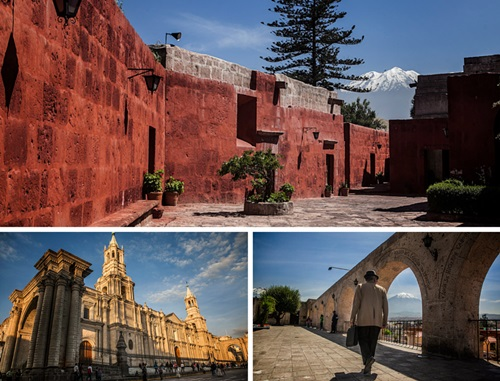 Photo collage of scenes from Arequipa, Peru