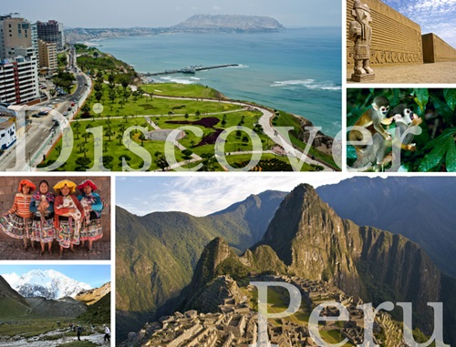 Photo Collage Of Scenic Landscapes Peru