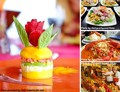 Photo collage of Peruvian food in Peru