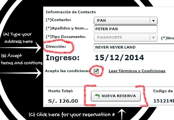 Reservation number for MaPi