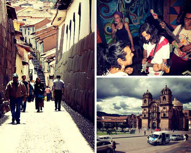 Photo collage of Cusco pictures from Going Vagabond