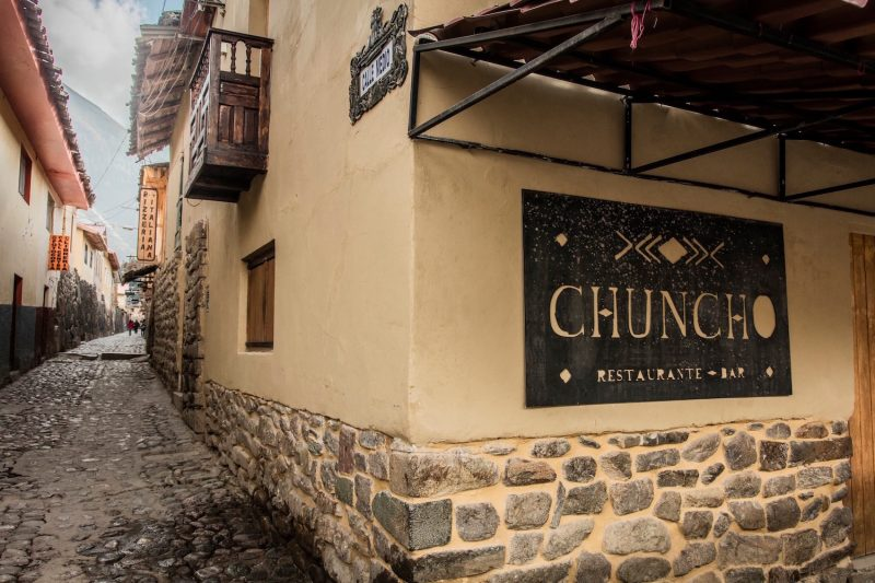 The exterior of Chuncho restaurant in the Sacred Valley.