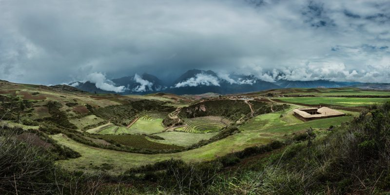 The Moray ruins, a series of mysterious circular agricultural terraces built by the Incas.