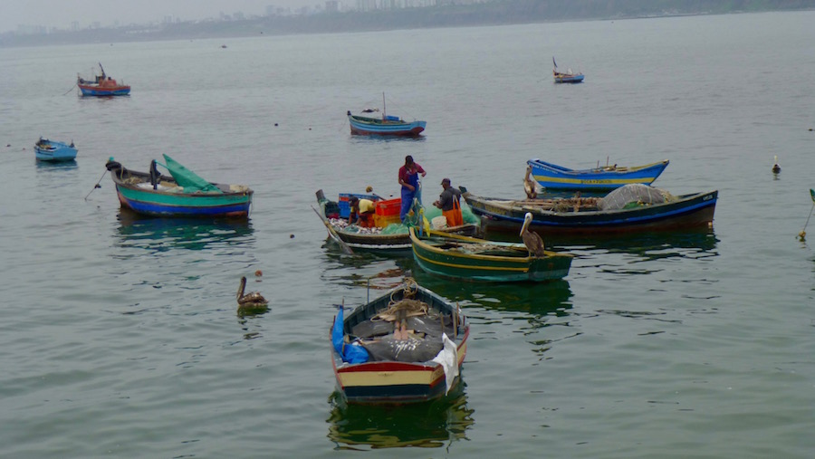 The fisherman of Chorrillos hard at work