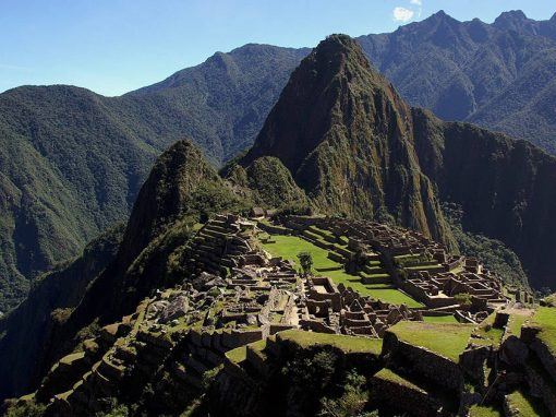 Machu Picchu in Peru, iconic Inca ruins and one of the New 7 Wonders of the World.