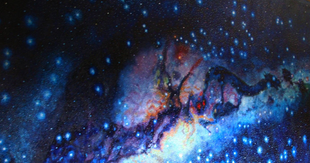Painting depicting the milky way as viewed in Inca astronomy.