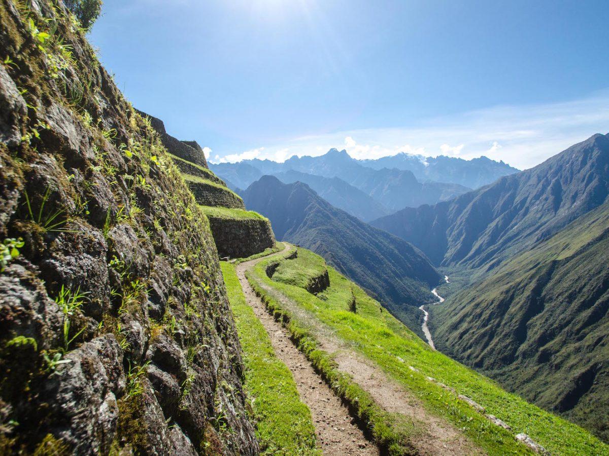 Final stretch of Inca Trial path leading to Machu Picchu