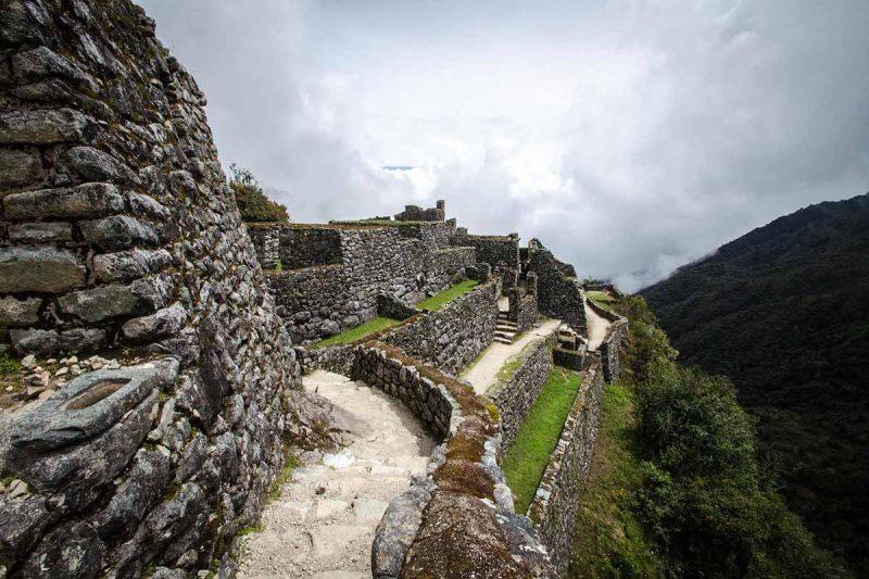 Sayaqmarca ruins, a stone Inca citadel along the Inca Trail.