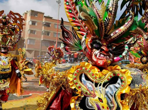 Dancers at the Carnaval de Oruro in Bolivia
