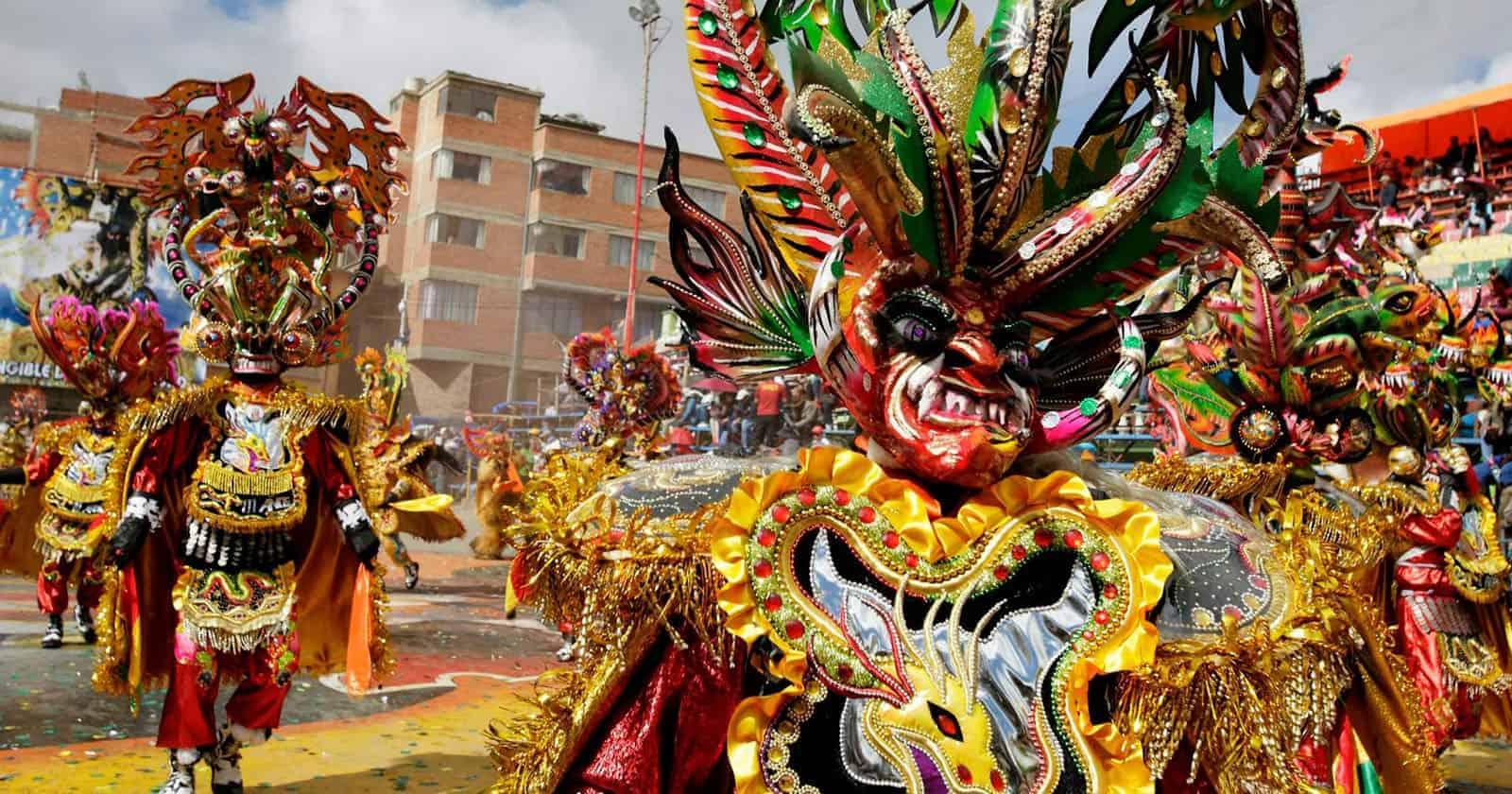 Dancers at the Carnaval de Oruro in Bolivia